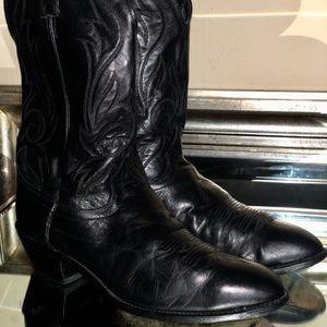 Laredo Cowboy Boots Black Leather Men's Size 13D